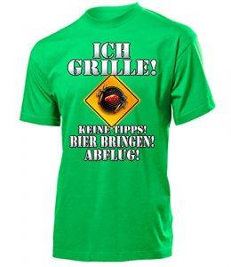 BBQ – ICH GRILLE – KEINE TIPPS – BIER BRINGEN – ABFLUG 4647(H-Kellygreen) Gr. L