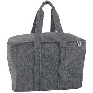 Filztasche grau einsetzbar als: Einkaufstasche Kaminholztasche Filzkorb Shopper oder Einkaufskorb . Faltbare Tasche aus Filz für Holz oder Wolle