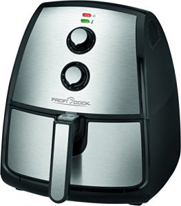 Profi Cook PC-FR 1115 H Edelstahl-Heißluft-Fritteuse 3,5 L Fassungsvermögen, stufenlos regelbarer Thermostat, Timer, 1500 W