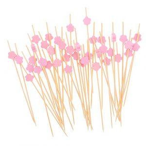 Gazechimp 100x Summer Party Drink Cocktail Sticks Essen Cupcake Picks – Rosa