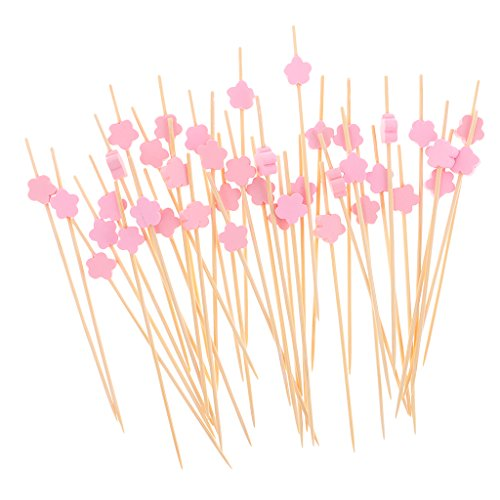 Gazechimp 100x Summer Party Drink Cocktail Sticks Essen Cupcake Picks - Rosa