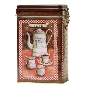 Metalldose Blechdose Kaffeedose Metallverschluß 'Cafe' 'Coffee' für 500 Gramm