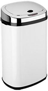 Dihl Abfalleimer mit automatischem Deckel, rechteckig, 30l, Weiß