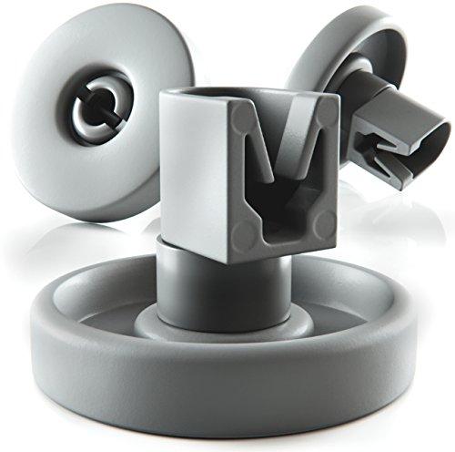 Plemont Spülmaschinen-Rollen [8er Set] - Universell für viele gängige Geschirrspüler - Unterkorbrollen Ersatzteile