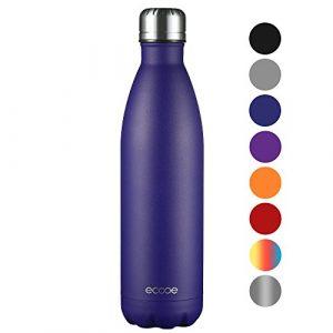Ecooe Thermosflasche 750ml doppelwandig Trinkflasche Edelstahl Wasserflasche Vakuum Isolierflasche (Blau)