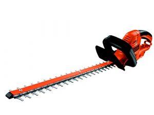 Black+Decker Elektrische Heckenschere GT5055 mit Kabelzugentlastung und Direktanschluss des Verlängerungskabels für maximalen Komfort / 22mm Schnittstärke / 500W / 55cm Sägeblatt-Länge / 2,8kg