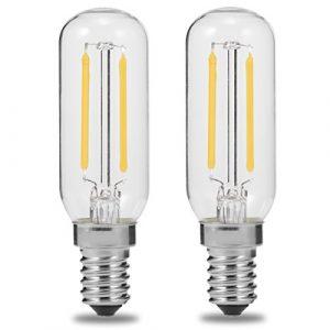 E14T253W LED Dunstabzugshaube Glühbirne, 250lm, 40W Glühlampe Ersatz, luohaoshi Edison-Glühbirne, Tageslichtweiß, 6000K, nicht dimmbar, 2Stück