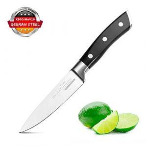 Schälmesser Obstmesser Gemüsemesser Küchenmesser 10 cm Sehr Scharfe Geschmiedete Klinge Ergonomischer Griff Besteck Deutscher Edelstahl