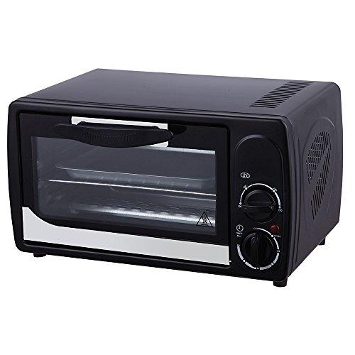 Grafner® Mini-Ofen Backofen 1000 Watt 12 Liter mit Timer und Temperaturwahl
