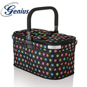 """Genius – Premium Einkaufskorb 26 l Dekor """"Punkte"""" 14260"""