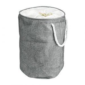 Wäschekorb faltbar und tragbar – großer und runder Korb – zusammenklappbarer Wäschesammler mit Tragegriffen – Wäschebox aus 100% Baumwolle – Arc Premier