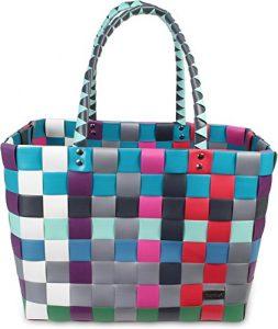 Einkaufstasche geflochten mit Henkeln – Tragetasche extra robust Farbe Classic / River