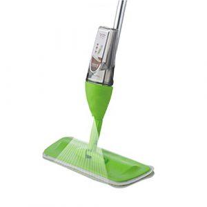 Bodenwischer mit Sprühfunktion,Spray Mop multifunktionaler Bodenwischer mit integriertem Zerstäuber (Green)