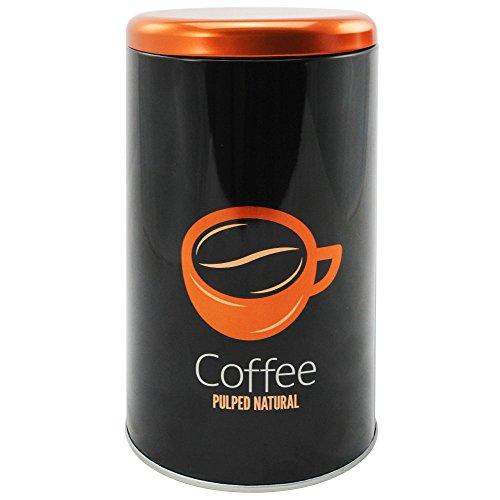 COM-FOUR® Trendige Kaffeedose für bis zu 500 g Kaffee, rund (1 Stück / Motiv 4)