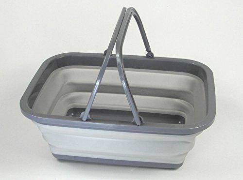 Küchenschüssel Schüssel Faltschüssel Silikonschüssel Campinggeschirr Faltbar GRAU