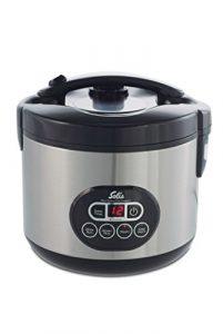 Solis Reiskocher und Dampfgarer, Weißer/ brauner Reis, Timer und Warmhaltefunktion, 6 Tassen Reis, 1,2 Liter, Duo Program Typ 817