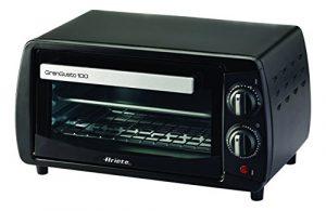 Ariete 980–Mini-Ofen, 800W, Fassungsvermögen 10l, Timer und Temperaturegelung, Schwarz
