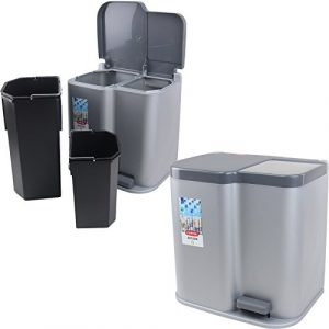 Curver Mülleimer Duo 21L Treteimer Müllbehälter Eimer Abfalleimer Mülltrenner