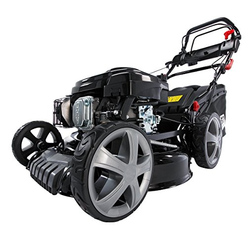 Benzin Rasenmäher BRAST 4 in 1 18196 4,4kW (6PS) incl. Selbstantrieb GT Markengetriebe kugelgelagerte Big-Wheeler-Räder Stahlblechgehäuse Easy Clean