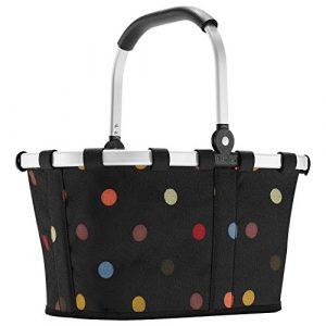 Reisenthel carrybag XS dots Einkaufskorb Picknickkorb Henkelkorb 5 Liter schwarz