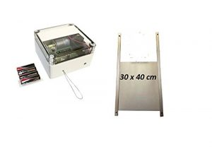 Elektronischer Pförtner mit Batterien VSBb von AXT mit Hühnerklappe 30 x 40 cm