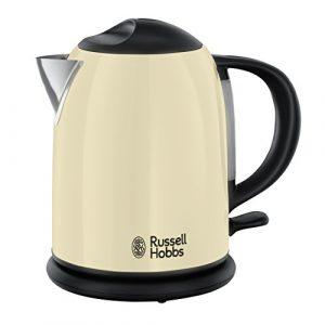 Russell Hobbs 20194-70 Colours Plus+ Classic Cream Kompakt-Wasserkocher, 2200 W, 1 l, Schnellkochfunktion, Perfect-Pour-Ausgusstülle, creme