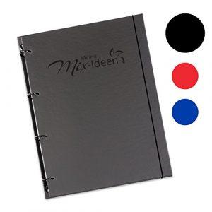 """Schaar-Design flexiNotes® Kochbuch A4 zum Selberschreiben, inkl. 200 Rezepteinlagen für Küchenmaschinen mit Kochfunktion, DIY Rezeptordner als Ringbuch nachfüllbar mit Register, Typ: A4, """"Meine Mix-Ideen"""", Farbe: Orange"""