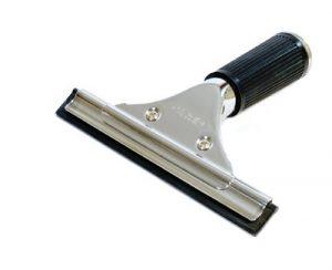 GBPro Edelstahl Fensterwischer, Abzieher (fensterabzieher) mit Gummilippe 15cm