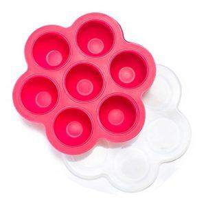 Gefrierbehälter für Babynahrung – Baby Essen Einfrieren – Zubehör zur Erstausstattung (Rosa)