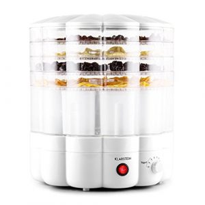 Klarstein Yofruit • Dörrautomat • Dörrgerät • Früchtetrockner • Joghurtbereiter • Joghurtmaker • 5 Etagen • stapelbar • 260 Watt • Thermostat-gesteuert • 9 x Joghurtbecher mit Deckel • weiß