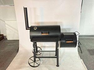 """55kg – KIUG® XXL """"TEXAS"""" Smoker BBQ GRILLWAGEN Holzkohle-Grill Grillkamin ca. 2,0 mm Stahl PROFI-QUALITÄT"""