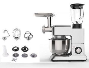 TDL XXL All-in-One Küchenmaschine 2000 Watt I 6,5 L I 3,5 KG Mixer Fleischwolf Knetmaschine Rührmaschine multifunktional Teigmaschine