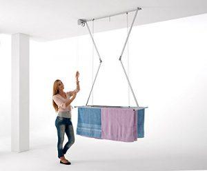 Deckenständer Foxydry Mini 150, vertikaler Wäscheständer, zusammenklappbar