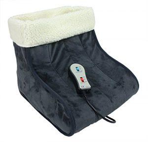 ObboMed MF-2050 12V 20W komfortabler elektrischer Fußwärmer mit Karbon Heizelementen und Vibrations Massagefunktion beheizbare Fußwärmer Heizschuhe Massageschuhe Wärmeschuhe Infrarot