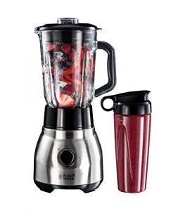 Russell Hobbs 23821-56 2-in-1 Glas-Standmixer/Smoothie Maker (600 W, max. 22, 400 U/min, 0,8 PS-Motor) edelstahl