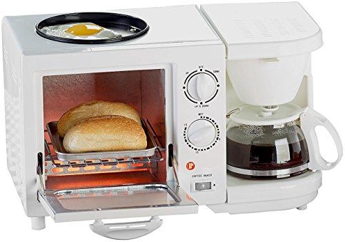 Rosenstein & Söhne Kaffeemaschine: Kompakter 3in1-Frühstücksofen, 1.150 Watt (Frühstückscenter)