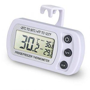 NexGadget Kühlschrank Thermometer, Thermometer für Kühlschrank Freezers, Messe Ranking von -20 bis50 C (-4 to 122 F) mit hocher Genauigkei Haushalt&Restaurants& Bars&Cafes