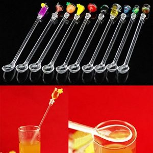 10 x 230 mm Kunststoff Cocktail Rührer Stir Sticks Drink-Stirrer BBQ Abendessen Party Bar Gadget von By +ing
