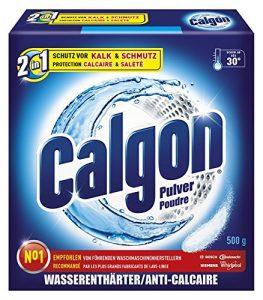 Calgon 2in1 Pulver, Wasserenthärter gegen Kalk & Schmutz in der Waschmaschine,  500 g