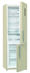 Gorenje NRK 6192 MC Kühl-Gefrier-Kombination / A++ / Höhe 185 cm / Kühlen: 222 L / Gefrieren: 85 L / Beige / NoFrost / TouchControl Display / Colour Edition