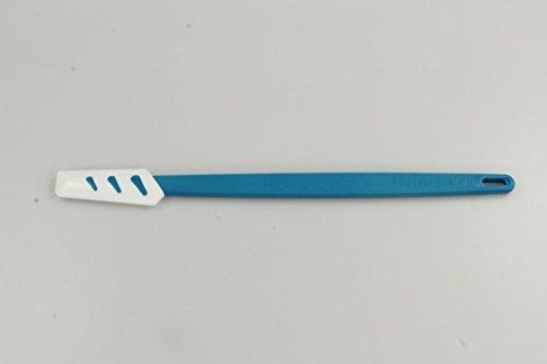 TUPPERWARE Griffbereit Kleiner Top-Schaber weiß-blau D78 Teigspachtel schmal