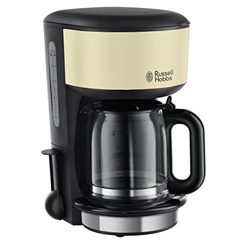Russell Hobbs 20135-56 Colours Plus+ Classic Cream Glas-Kaffeemaschine, Brausekopf Technologie, Schnellheizsystem, creme