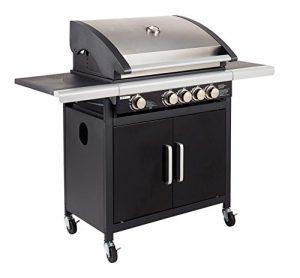 Cook in Garden Grill Gas amerikanischen Silber/Schwarz 79,5x 58x 52cm am026sb