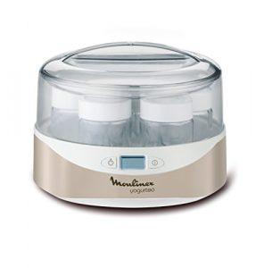 Moulinex YG231E32Joghurtbereiter Yogurteo–programmierbar–inkl. 7Joghurtgläser–LCD-Display–Silver Premium