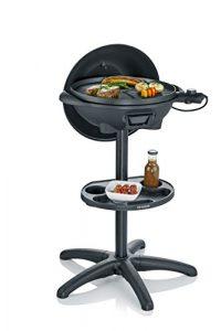 SEVERIN PG 8541 Barbecue-Elektrogrill, Standgrill mit Haube, Matt Schwarz, 42 x 58 x 96 cm