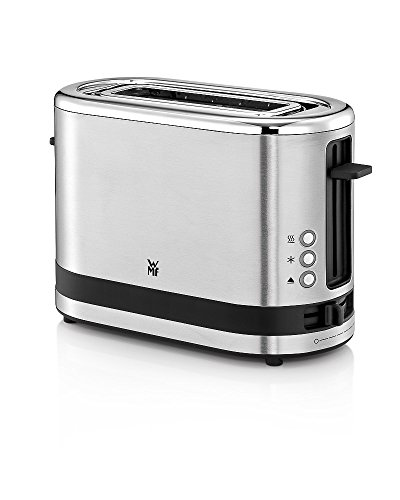 WMF KÜCHENminis 1-Scheiben Toaster Langschlitz XXl-Toast Brötchenaufsatz 7 Bräunungsstufen Überhitzungsschutz 600W Edelstahl matt