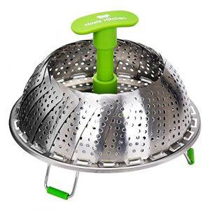 Koala Kitchen Edelstahl Dämpfeinsatz für Koch-Töpfe von 18cm – 28cm stufenlos verstellbarer Dampfgarer zum Gemüse dämpfen BPA-frei rostfrei geeignet für Baby-Nahrung