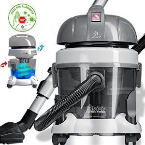 Kesser® 2200W Nass und Trockensauger Staubsauger ✓ Beutellos ✓ Mit Wasserfilter ✓ Mehrzwecksauger zum Trocken-Saugen & Nass-Saugen | Staubsauger mit Wasserfilter | Wasserfiltersystem für Allergiker |