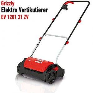 Grizzly Elektro Vertikutierer EV 1201 – elektrischer Rasenvertikutierer, Rasenlüfter zur Gartenpflege – Belüfter mit starkem 1200 W Motor
