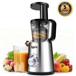 Argus Le Multifunktion-Entsafter Slow Juicer Elektronische Steuerung Slow Juicer Automatische Drehzahlregelung LED-Kontrollleuchte Obst- und Gemüsesaft Extraktor mit gefrorenen Früchten Sorbet